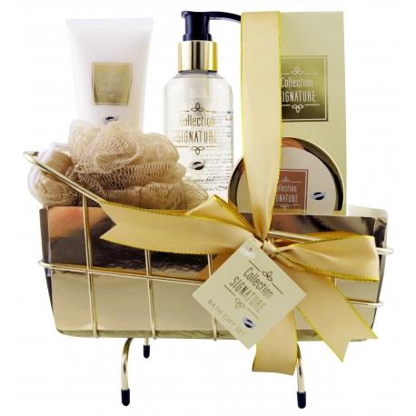 Coffret de bain épicé au parfum vanille et gingembre - 5pcs