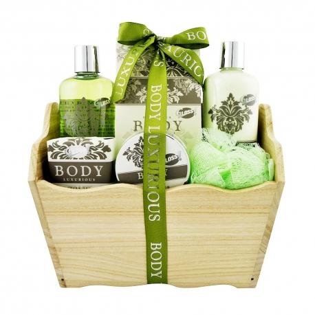 Coffret de bain au parfum relaxant de thé vert - 6pcs