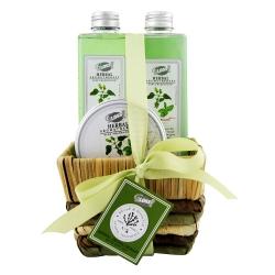 Coffret de bain frais au parfum bergamote et basilic - 3pcs