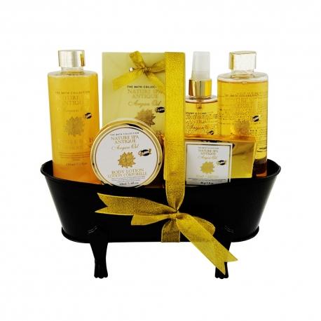 Coffret de bain au parfum sublime d'huile d'argan - 6pcs