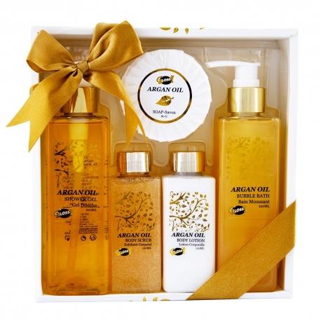 Coffret de bain au parfum relaxant d'huile d'argan - 5pcs