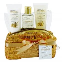 Coffret de bain au parfum subtil d'ambre et safran - 4pcs