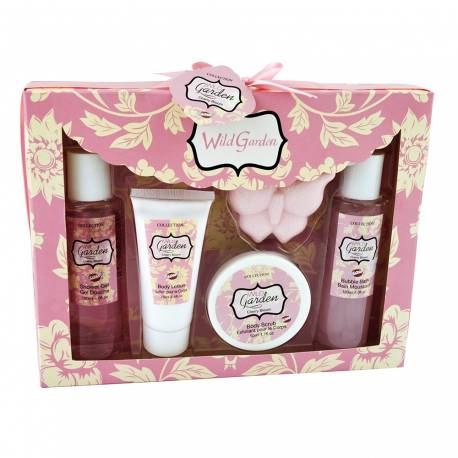 Coffret de bain au parfum fleurs cerisier ou magnolia - 5pcs