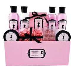 Coffret de bain au parfum de rose, lys et freesia - 19pcs