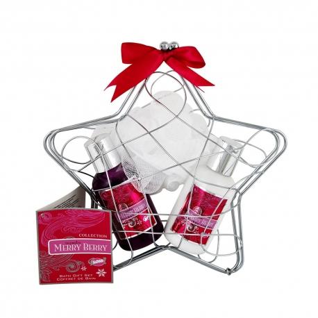 Coffret de bain au parfum épicé des baies rouges - 3pcs