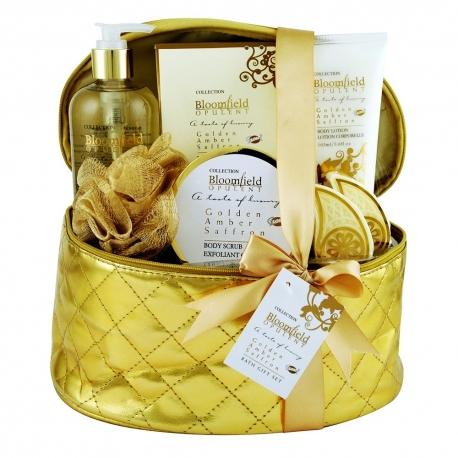 Coffret de bain au parfum subtil d'ambre et safran - 7pcs