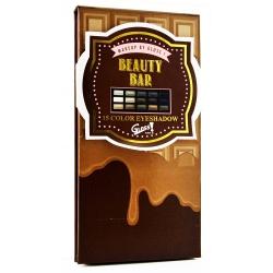 GLoss - Palette de maquillage - Format tablette de chocolat caramel - Ombres à paupières couleurs Smoky - Idée cadeau beauté