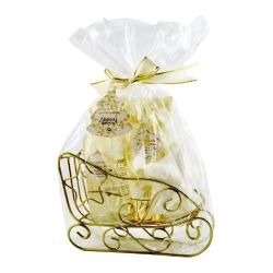 Coffret de bain Noël parfum musc et fleurs blanches - 3pcs