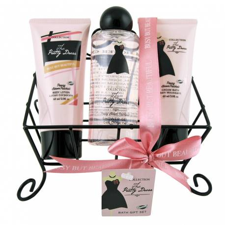 Coffret de bain parfum fleurs de pivoine et patchouli - 3pcs