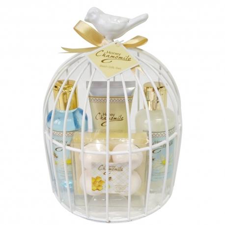Coffret de bain parfum gourmand des amandes au miel - 4pcs