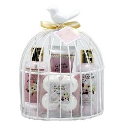 Coffret de bain parfum fleur de pivoine et patchouli - 4pcs