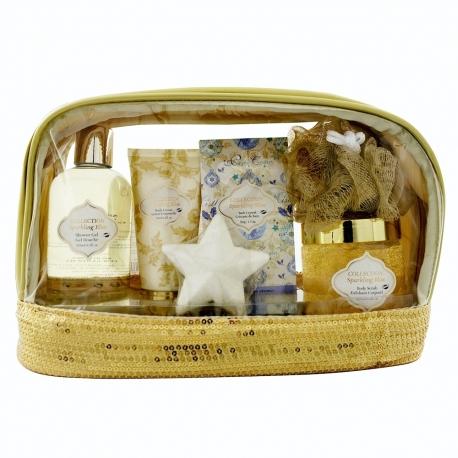 Coffret de bain parfum fleurs blanches et musc - 6pcs