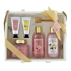 Coffret de bain parfum fleur de pivoine et patchouli - 6pcs