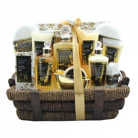 Coffret de bain premium parfum musc, fleurs blanches - 14pcs
