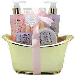 Coffret de bain rose, lys, freesia, jasmin, magnolia - 5pcs