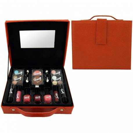 Mallette de maquillage Fashion Week orange - 27pcs
