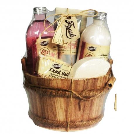 Coffret de bain au parfum fruité de grenade - 6pcs