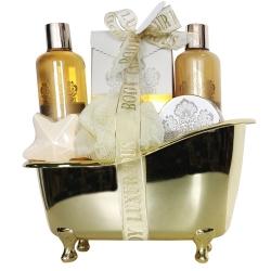 Coffret de bain au parfum vanille et tilleul - 6pcs