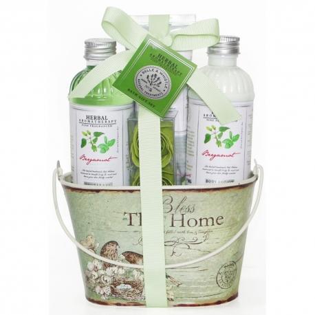 Coffret de bain énergisant parfum bergamote basilic - 5pcs