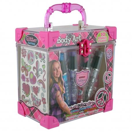 Coffret maquillage corps pour enfant rose- 30pcs