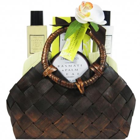 Coffret de bain parfum basmati et fleurs de palmier - 6pcs