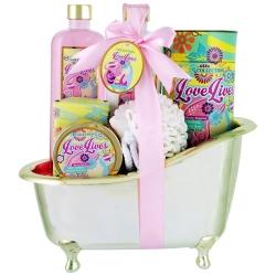 Coffret de bain fleuri au parfum de lys et freesia - 6pcs