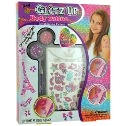 Set de Maquillage Glitz Up Body Tatto - 33 Pcs - Gloss