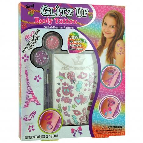 GLoss - Coffret cadeau - Spéciale Maquillage petite fille - Tatouage - Collection Glitz Up