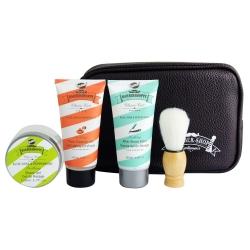 Sacoche de bain marron collection Barbershoppe - senteur Aloé Vera & menthe poivrée - 5 pcs