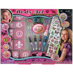 Coffret maquillage corps pour enfant rose - 82pcs