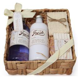 Gloss - Coffret cadeau de bain avec son Plateau en bambou - Collection Fresh Bath - Lavande