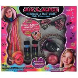 Coffret beauté coiffure pour enfant rose - 9pcs
