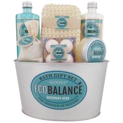 Gloss - Coffret de bain pour femme - Pot métal blanc - Collection Eco Balance - Pivoine et patchouli