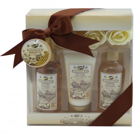 Coffret de Bain Honey Blossom - Miel - 7 pièces - Gloss