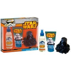 Coffret Cadeau - Eau de Toilette 140ml, Gel Douche et Shampoing 2en1 Avec Une Eponge 3D - Star Wars