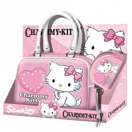 Hello Kitty Ensemble sac à main et porte monnaie rose