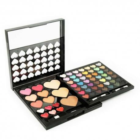 Palette de maquillage Heart to Heart noir - 68pcs