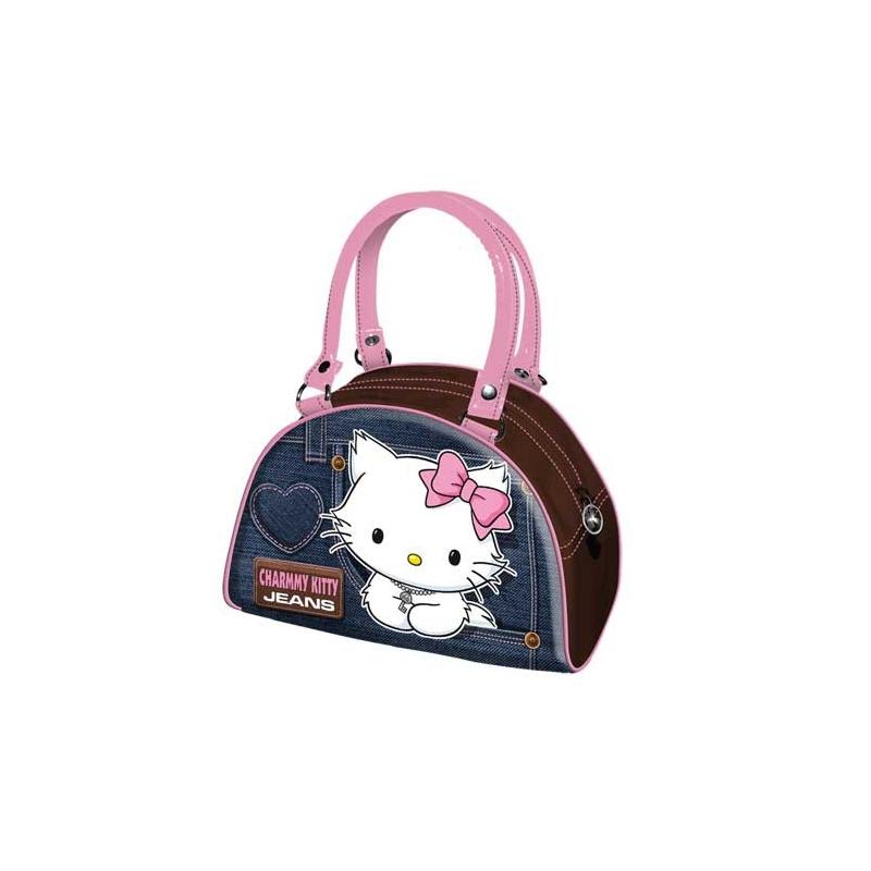 4accd3f407 Hello Kitty Sac à main bowling denim bleu