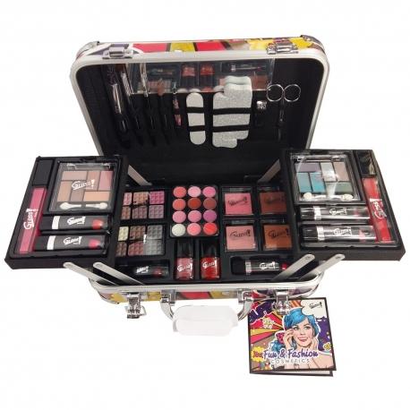 Mallette de maquillage Comics rouge - 62pcs