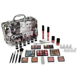 Mallette de maquillage Beauty Tendance noir - 62pcs