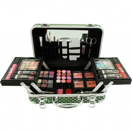 Gloss - Mallette de maquillage XXXL incluant 4 vernis - Design Pretty Vintage beauté - Idée cadeau Beauté