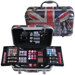 Mallette de maquillage London Fashion Week bleu - 62pcs
