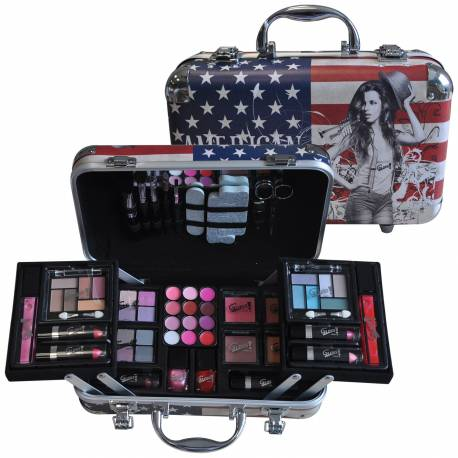 Mallette de maquillage Fashion Week USA bleu - 62pcs