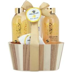 Coffret de bain nature parfum huile d'argan - 4pcs