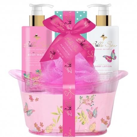Coffret de bain relaxant au parfum de grenade - 4pcs