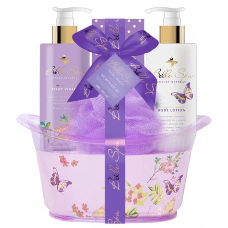 Coffret de bain relaxant au parfum de lavande - 4pcs