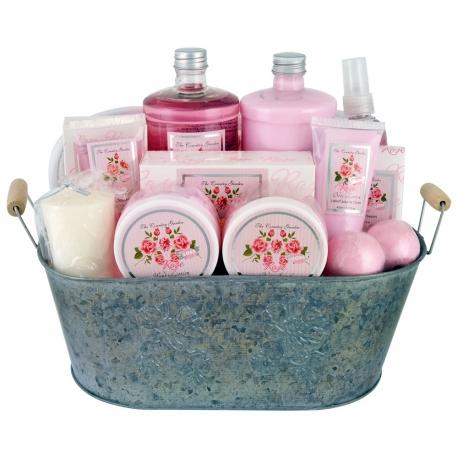 Coffret de bain premium au parfum puissant de rose - 14pcs