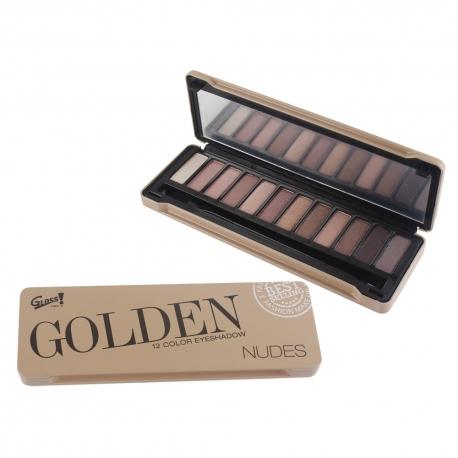 Palette de maquillage Golden Nudes beige - 13pcs