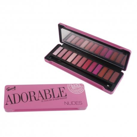 Palette de maquillage Adorable Nudes rose - 13pcs