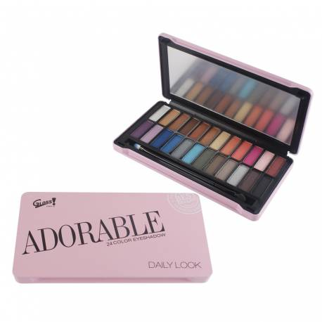 Palette de maquillage Look rose - 25pcs